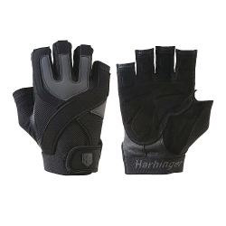 Gants Training Grip Black Noir/Gris HARBINGER