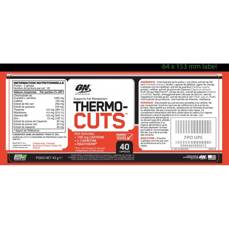 Thermo Cuts - OPTIMUM NUTRITION